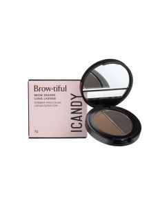 Sombra Para Sobrancelhas Icandy Brow-tiful DUO Dark Chocolate #03/ Chocolate Chips #04