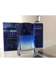 Perfume Ferrari Blue 100 Ml + Kit Shampoo 300 Ml