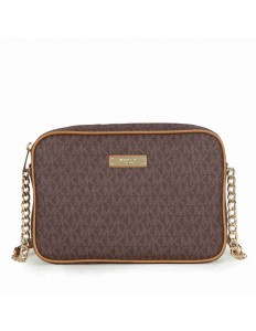 Michael Kors Jet Set Large Crossbody - Brown