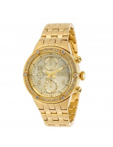 Relogio Invicta 29527 Angel Crystal Gold Femenino
